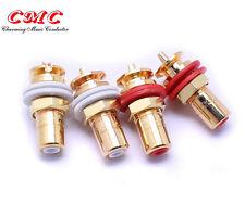 2PCS Original CMC 816-WU Gold plated RCA connector  socket