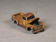 Ho Scale Yellow Rusted Out 1951 Chevy Pickup w/ Hood up, version #5