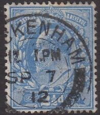 SG 284 2 1/2d Dull Blue M18(3)in VFU with dated Twickenham CDS cancellation.