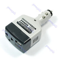 12v DC to AC Car Power Converter Adapter Inverter USB