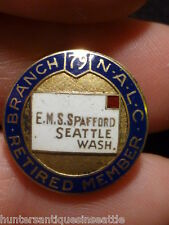 "NALC 10K gold  "" National Association of Letter Carriers "" Nice Enamel work 4.1g"
