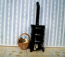 1:12 Kanonenofen / Holz - Korb mit Feuerholz NEU (03)