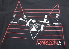 Maroon 5 Concert T Shirt 2011 2 Sided Small S Black Red