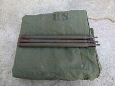 WW2 Toile de Tente en toile verte US Americain de Dotation datée 1945