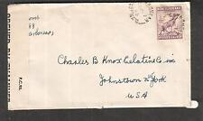 Canada Newfoundland April 1944 WWII PC90 DC/32 censor cover Carbonear to NY