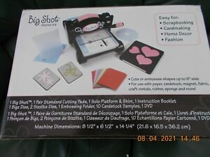 Sizzix Big Shot Machine and bundle of die cuts and extras