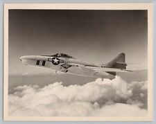 1950's GRUMMAN F9F-8P COUGAR w/ NOSE CAMERA / F-9 Vintage OFFICIAL US NAVY Photo