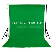 Photography Studio 1.8 * 2.7m Fabric Backdrop Background Screen Green NEW D7R6