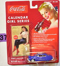 JOHNNY LIGHTNING COCA COLA CALENDAR GIRL SERIES '49 MERCURY #3 WHITE LIGHTNING
