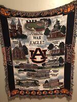 Auburn University Tigers War Eagle Afghan Throw Blanket Alabama NCAA SEC Vintage