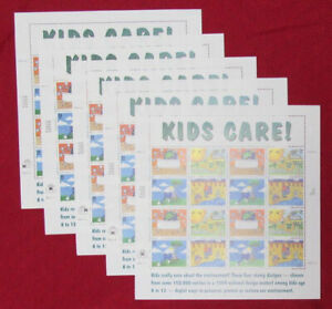 Five Sheets x 16 = 80 Of EARTH DAY KIDS CARE! 32¢ US USA Stamps. Sc # 2951-2954
