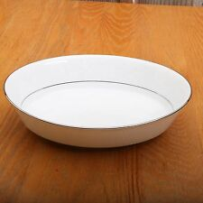 Noritake Ranier 6909 Serving Bowl White Floral Pattern Japan