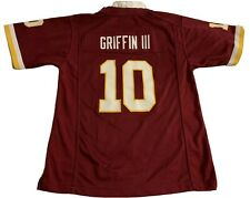 NFL EQUIPMENT Redskins #10 RG3 Griffin Football On Field Jersey Youth L 14/16
