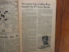 Dec-1965 Lancaster Pa TV Maga(GARY COLLINS/WACKIEST SHIP IN THE ARMY/SALLY FIELD