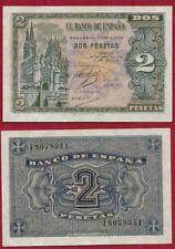 ESPAÑA 2 PESETAS año 1938. Serie I. Nº 8078311. Catedral de Burgos. ESCASO.