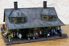 HO Custom Built & Nicely Detailed-PASSENGER~FREIGHT STATION BUILDING w/Extras