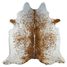 Brazilian Rodeo Cowhide Rug Salt and Pepper (Brown and White) approx 6X7 feet