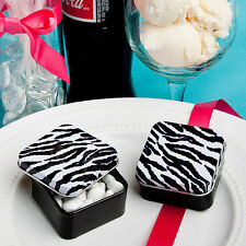 34 Zebra Mint TIns Bridal Shower Favor Birthday Party Favors wedding
