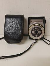 Leningrad 4 Photographic Light Meter Vintage  Leather Case