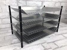 Industrial Garage Look Metal Paper File Sorter Desk Organizer 4 Trays