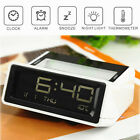 Digital LCD Display Snooze Alarm Clock Calendar Thermometer Light Home Office