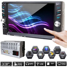 """6.6"""" 2 Double Din Car Stereo Head Units Radio In Dash Bluetooth Mp5 Video Player"""