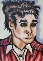 Morrissey The Smiths Collectible ACEO Art Print 2.5 x 3.5 Signed by Artist KSams