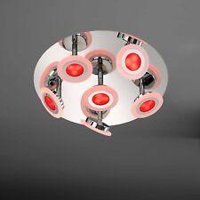WOFI lámpara LED de techo GEMMA 7-flg CROMADO Rbg CONTROL REMOTO 30W 2100 lumen