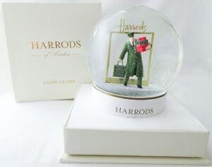New in Box Harrods of London Green Man Snow Globe