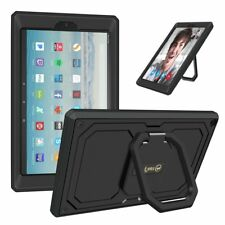 For New Amazon Fire HD 10 7th Gen 2017 Tablet 360 Rotating Case Grip Stand Cover