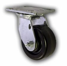 """4"""" x 2"""" Non Marking Phenolic Wheel w/ Swivel Plate Caster 800# Cart Heavy Duty"""