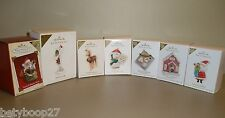 Hallmark VIP Ornament Season's Treatings Welcome Christmas Repaint Mail LOT of 7