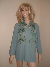 NEW EASTEX TOP BLOUSE SHIRT JUMPER Teale Blue SIZE 20
