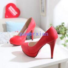 Womens Wedding High Heel Platform Fashion New Stilettos Pumps Shoes ALL Uk Sz