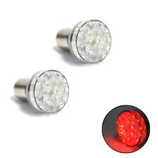 2x Red/White 24 LED BAY15D 380 1157 P21 5w 12v Stop Tail Car Bike Light Bulbs