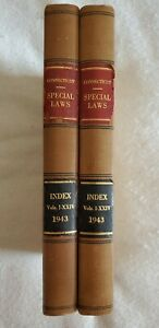 Set of Two (2) Antique Law Books, 1943