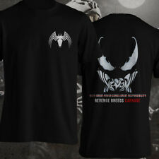 Venom Carnage Quotes Black Spiderman Quotes Front Back Printed Men T-Shirt S-3XL