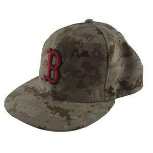 New 59Fifty Military Desert Digital Camo Baseball Cap Boston Red Sox Size 7 1/8