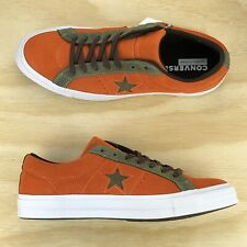 6c7f359eefc0d9 Converse One Star Pro Ox Orange Green White Casual Skating Shoes 161617C  Size 10