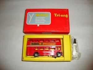 FRENCH TRIANG MINIC AUTOROUTE 1.M.1545 DOUBLE DECKER BUS - EXCELLENT in orig BOX
