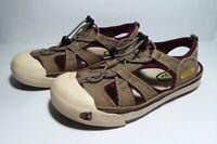 KEEN Womens Size 9 Coronado Bungee Canvas Water Sport Sandals Beige Maroon