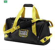 RR BNWT Mens Women's Reebok Crossfit Games Grip Duffel Bag CF 2014 Black Large