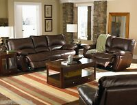 Double Reclining Sofa set Bonded Leather Loveseat Chair Living room 600281 Couch
