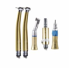 5 Dental High Speed Handpiece Turbine + Low Speed Contra Angle Motor NSk type 4H