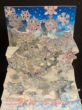 Snowflakes Let It Snow PopShots 3-D Pop-Up Holiday Christmas Card Lot of 6 New