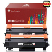 2PK New TN760 Toner with Chip for Brother TN730 MFC-L2710DW L2750DW DCP-L2550DW