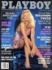 PLAYBOY JANUARY 1998 Heather Kozar Shannon Tweed Teri Hatcher Kim Basinger