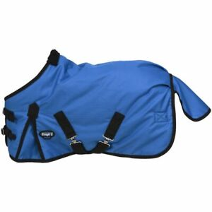 """New Tough-1 Miniature Horse Blanket Waterproof Turnout 38"""" Blue Rug Pony Tack"""
