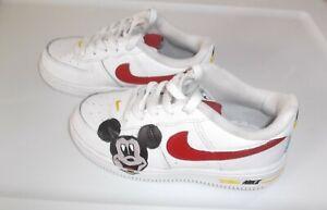 Nike Air Force 1 Toddler White / Custom Shoe Size 10C - Preowned - Mickey Mouse