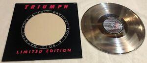 Triumph - Rock & Roll Machine - Silver Vinyl Record